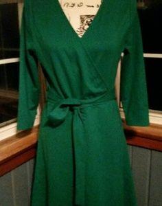 Lands' End green dress sz.S